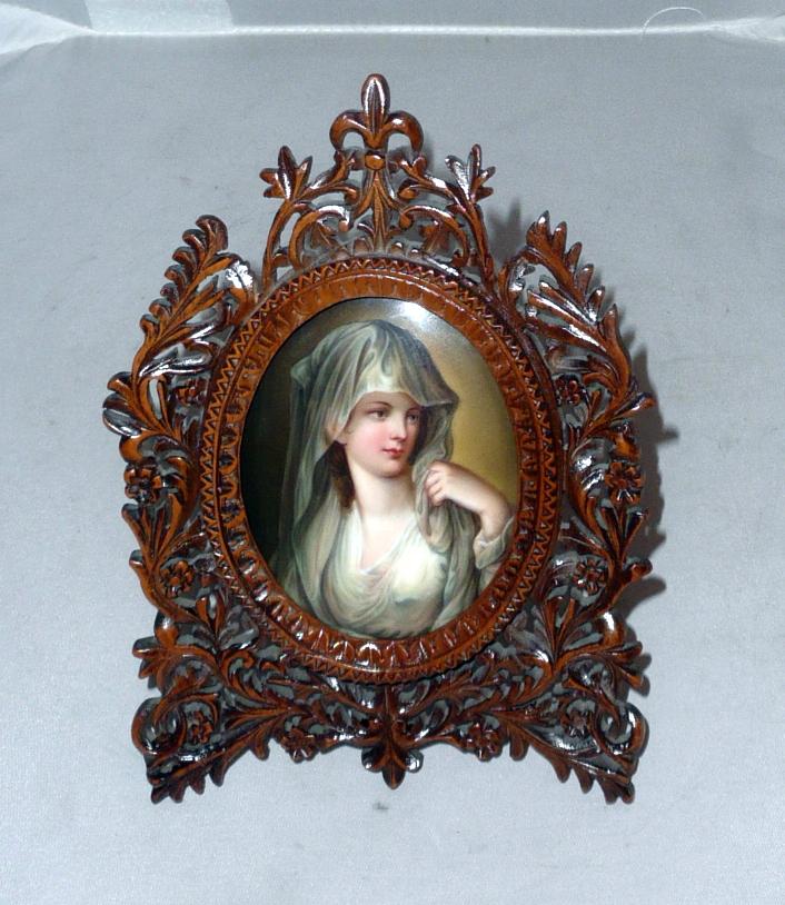 Angelika Kauffmann: Női portré/porcelánra festett miniatűr